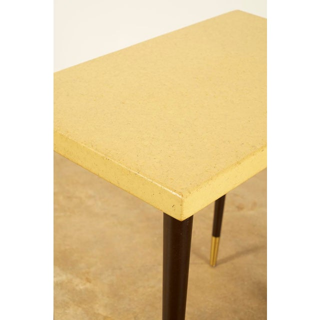 Johnson Furniture Co. Paul Frankl Cork Top Side or Accent Table For Sale - Image 4 of 5