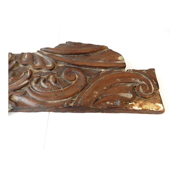 Brown 18th Century Architectural Wood Wall Hanging For Sale - Image 8 of 10
