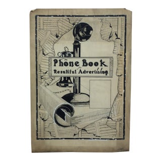 "1920 Vintage ""The Phone Book"" Sign by Thomas Sturges Jr. For Sale"