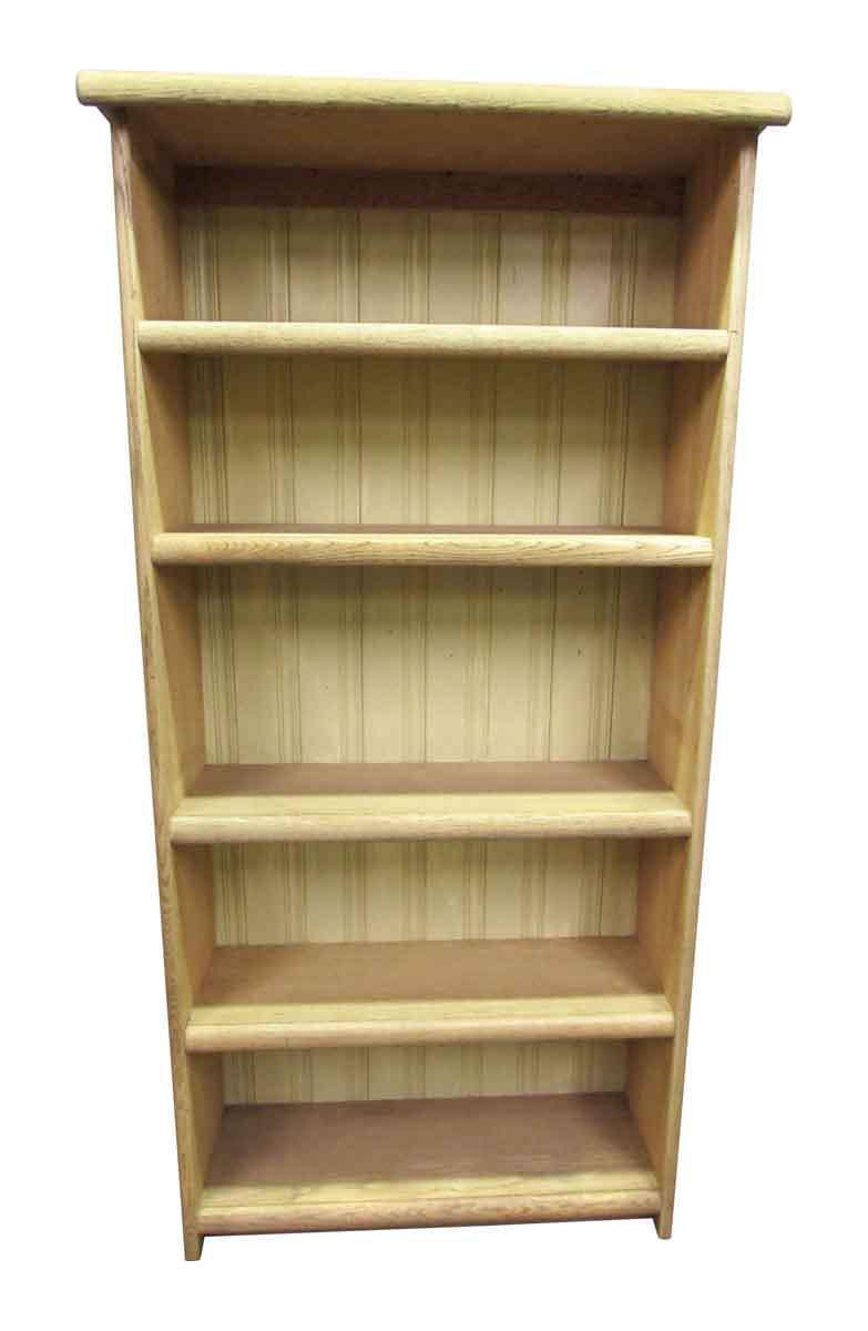 Pickled Oak Five Shelf Bookcase Chairish