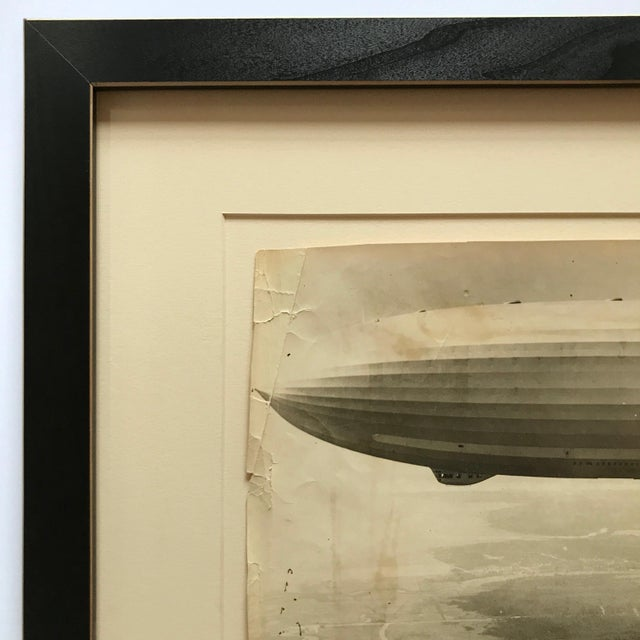 Americana 1931 Framed Vintage Navy Airship Akron Photo For Sale - Image 3 of 7
