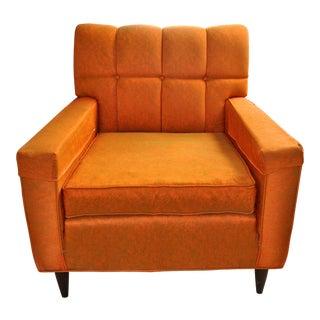 1960s Vintage Mid-Century Modern Johnson Carper Orange Marble Club Chair For Sale
