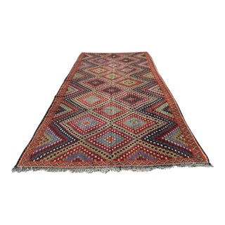 "Turkish Kilim Rug - 5'9"" X 11'1"" For Sale"