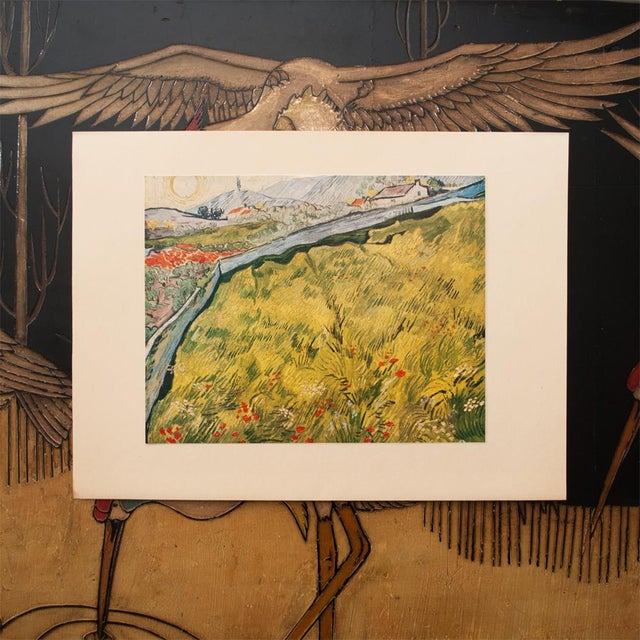 """Impressionism 1950s Van Gogh, First Edition Lithograph """"The Wheat Field"""" For Sale - Image 3 of 7"""