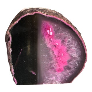 Organic Modern Pink Agate Candleholder For Sale