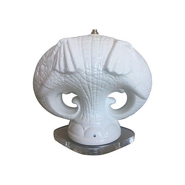 Italian Elephants Lamp & Shade For Sale - Image 11 of 13