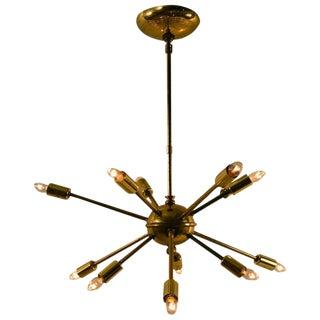 12-Light Sputnik Chandelier For Sale