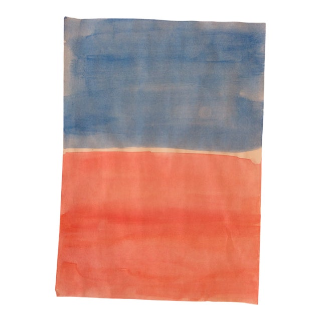 Mark Rothko-Style Watercolor 1990s For Sale
