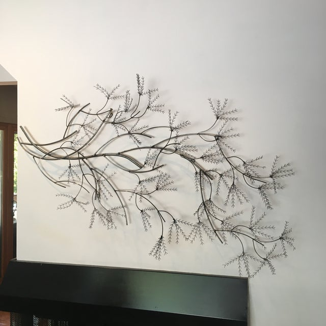 Contemporary Curtis Jere Wheat Willow Wall Art Sculpture For Sale - Image 3 of 8