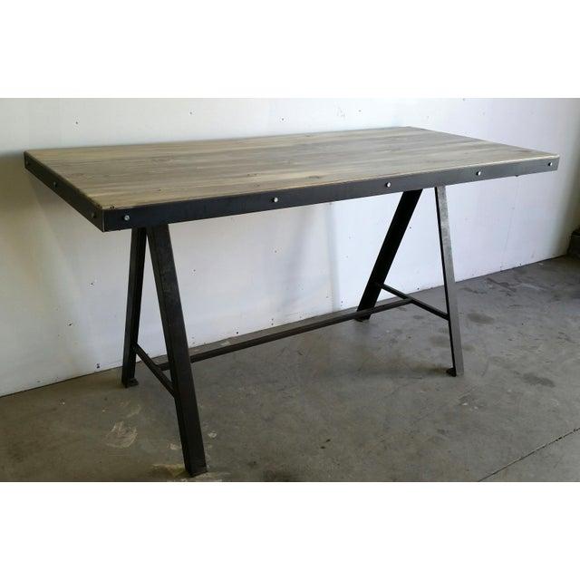 Vintage Industrial Reclaimed Table - Image 2 of 7