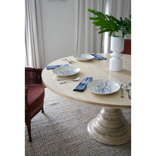 Modern Modern Amelia Round Wooden Dining Table For Sale - Image 3 of 8