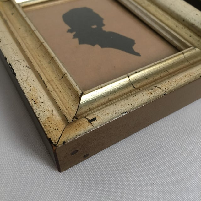 Early 20th Century Antique Framed Silhouettes - Set of 4 For Sale - Image 5 of 7