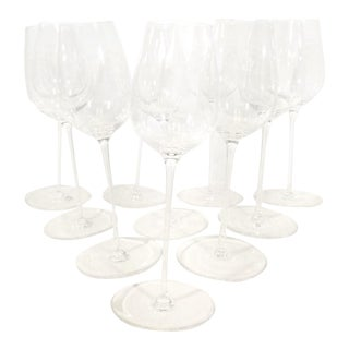 "1980s Rona Naturally Aerating ""Twirling"" Glasses - Set of 10 For Sale"