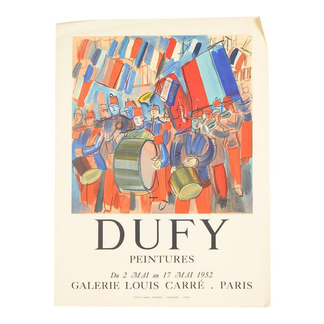 Mourlot & Raoul Dufy 1952 Exhibition Poster - Image 1 of 7