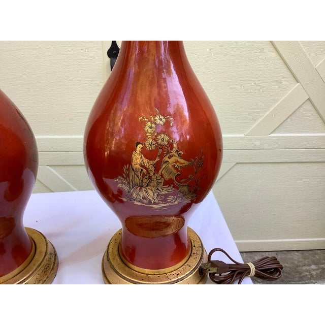 Frederick Cooper Chinoiserie Lamps, a Pair For Sale In Atlanta - Image 6 of 13