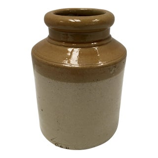 Antique C & B Stoneware Crock From England For Sale