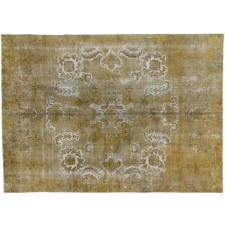 Distressed Vintage Turkish Rug With Earth-Tone Colors - 08'01 X 11'03 For Sale