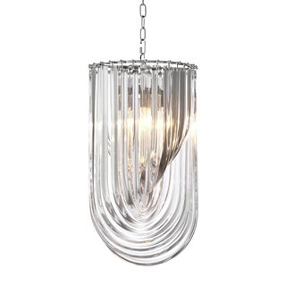 Murano Lucite Loop Chandelier For Sale