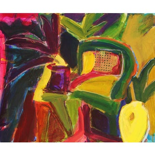 """Interior With Yellow Vase"" Painting For Sale"