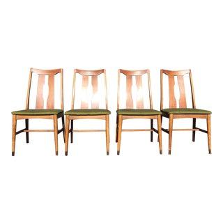 Mid-Century Walnut Dining Chairs- Set of 4
