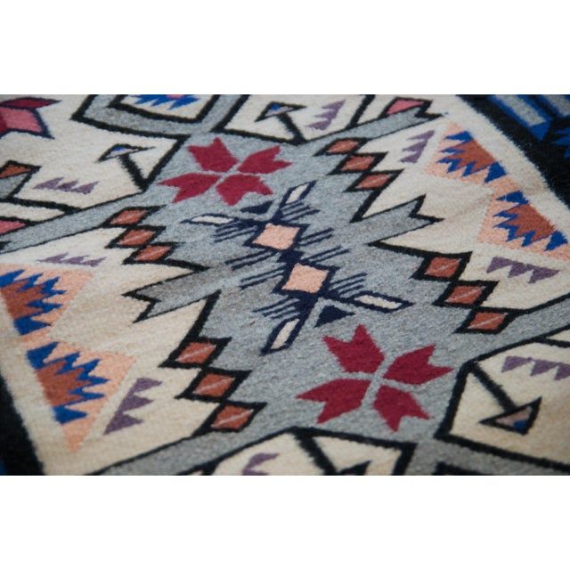 Vintage Navajo Hand Loomed Geometric Rug by Ella John- 2′1″ × 3′2″ For Sale - Image 9 of 12