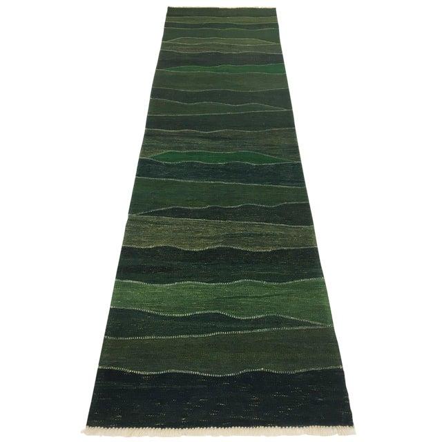 Rug & Relic Emerald Yeni Kilim Runner | 2'8 X 9'8 For Sale