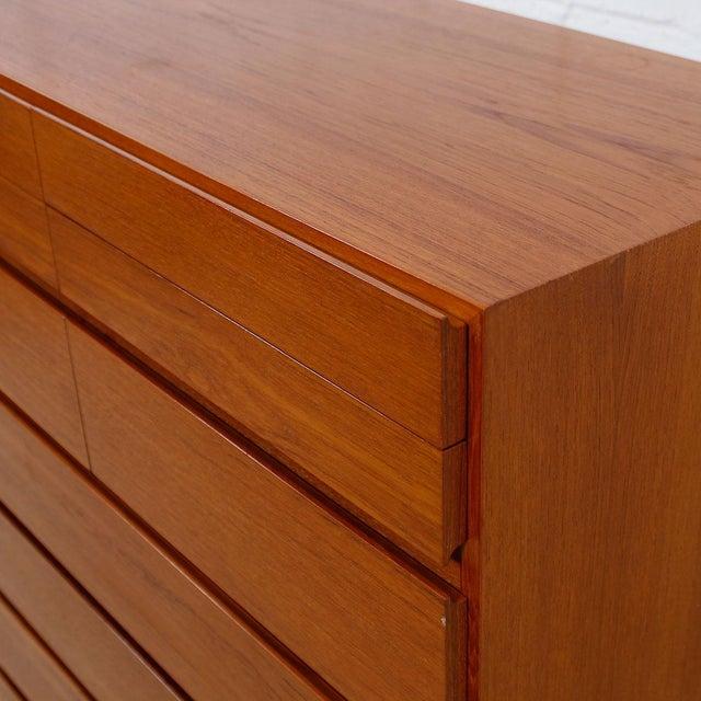 Brown Vinde Mobelfabrik Danish Modern 10-Drawer Dresser For Sale - Image 8 of 10