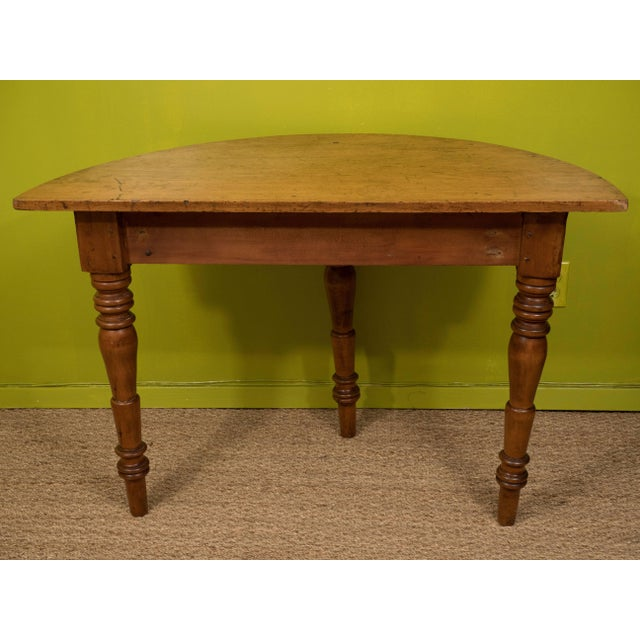 Wood Demilune Table For Sale - Image 7 of 8