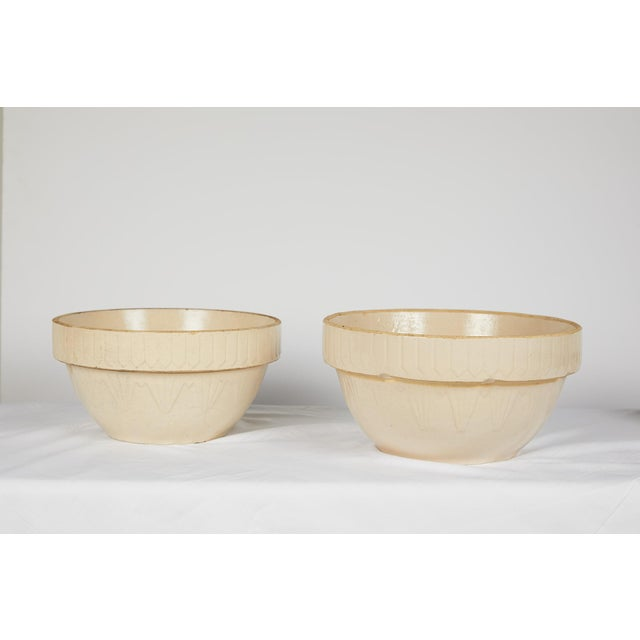 Art Deco American Art Deco Earthenware Mixing Bowl Set For Sale - Image 3 of 13