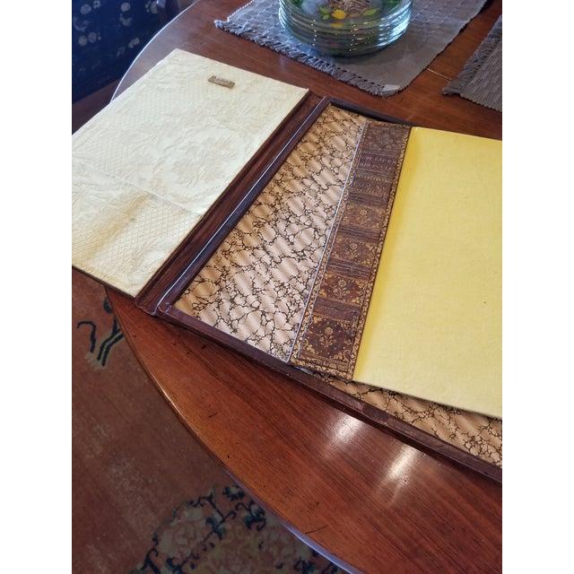 Antique Gilt Leather Double Folding Blotter For Sale - Image 11 of 13