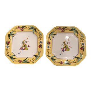 Joan Green Essex Chinoiserie Plates - A Pair