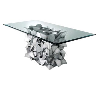 Delaunay Steel Dining Table by Craig Van Den Brulle For Sale