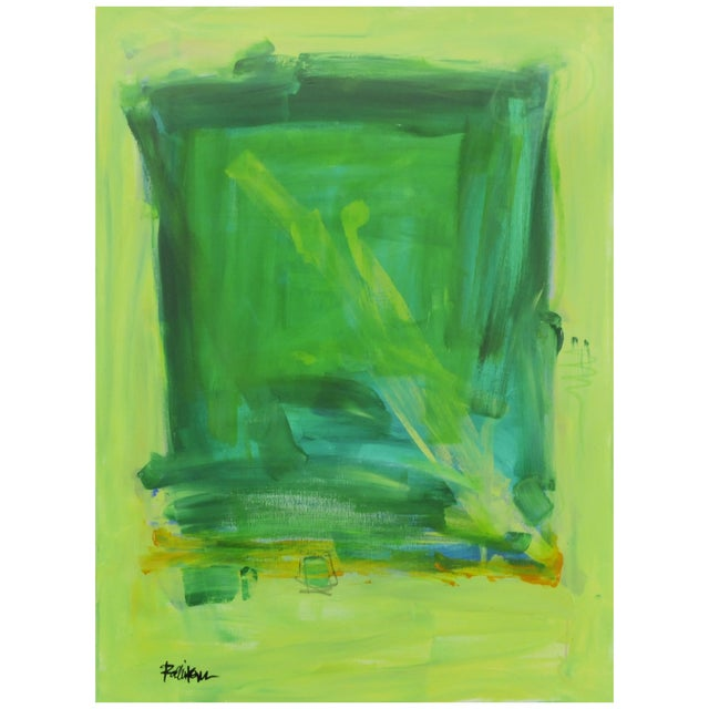 Lime Green & Yellows Painting by Robbie Kemper For Sale