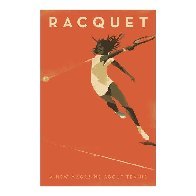 """Racquet"" Minimalist Danish Modern Poster - Image 1 of 3"