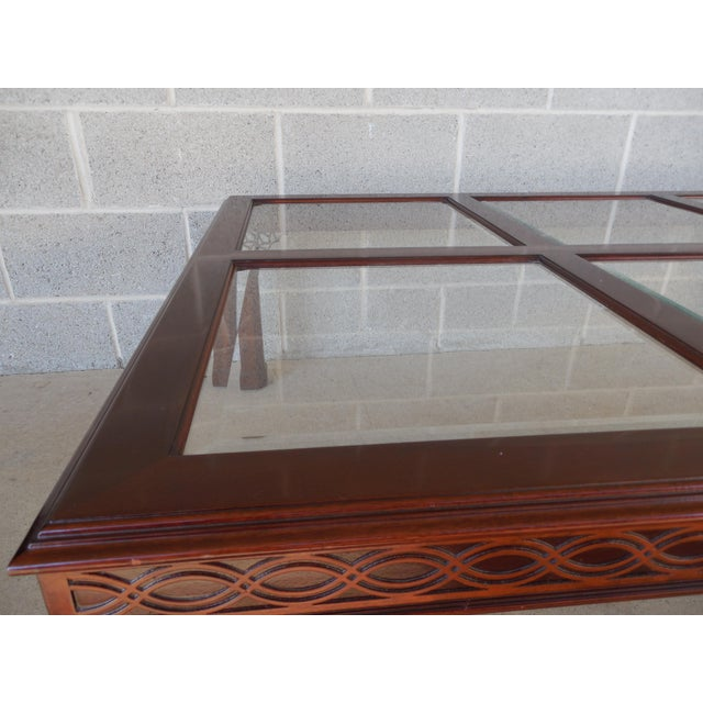Kindel Chippendale Style Mahogany Coffee Table For Sale - Image 7 of 7