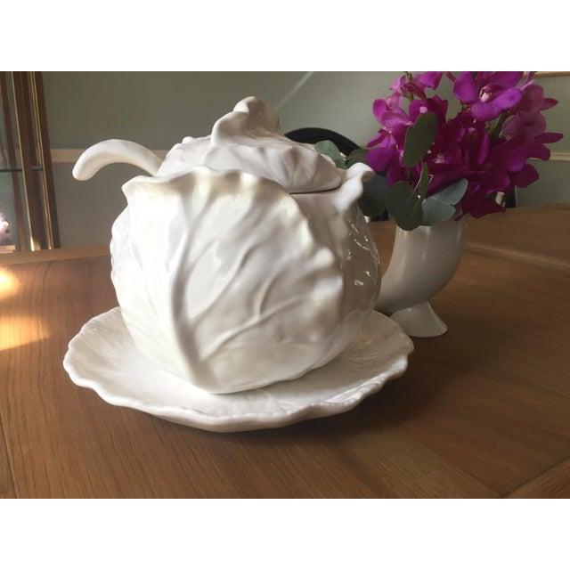 Metlox White Cabbage Tureen Set - Image 8 of 8