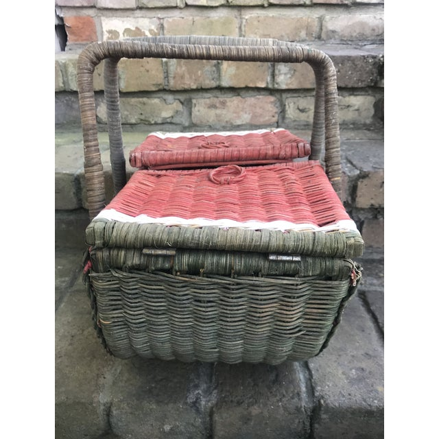 Country Watermelon Picnic Basket For Sale - Image 9 of 13