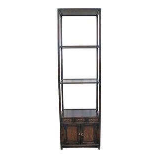 Vintage Asian Modern 3-Tier Rosewood Etagere Shelf For Sale