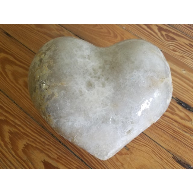 Marble Carved Heart Decorative Object For Sale - Image 4 of 4