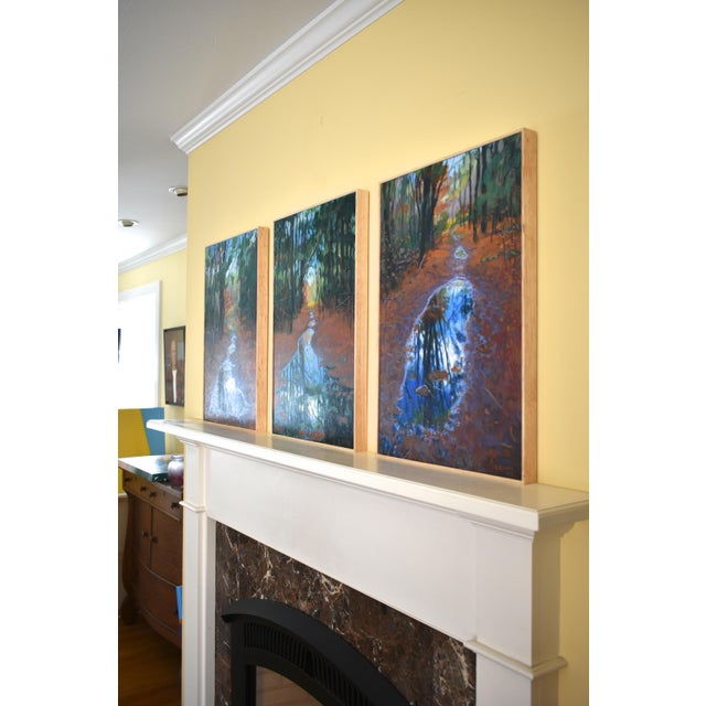 """Standing by Peaceful Waters"" Contemporary Triptych Painting by Stephen Remick - Set of 3 For Sale - Image 11 of 13"