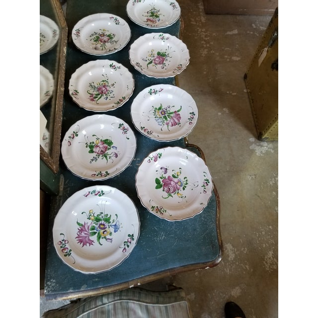 French Faience Bowls Set of Eight For Sale - Image 4 of 8