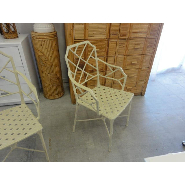 Faux Bamboo Brown Jordan Calcutta Faux Bamboo Chairs - a Pair For Sale - Image 7 of 8