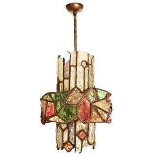 Brutalist Ceiling Light by Longobard For Sale