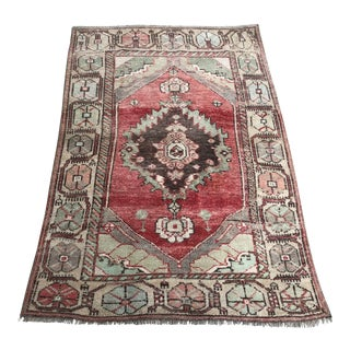 Vintage Nomadic Handmade Rug For Sale