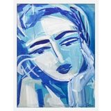 "Image of Medium ""Blue Girl 18"" Print by Maren Devine, 19"" X 24"" For Sale"