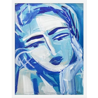 "Medium ""Blue Girl 18"" Print by Maren Devine, 19"" X 24"" For Sale"