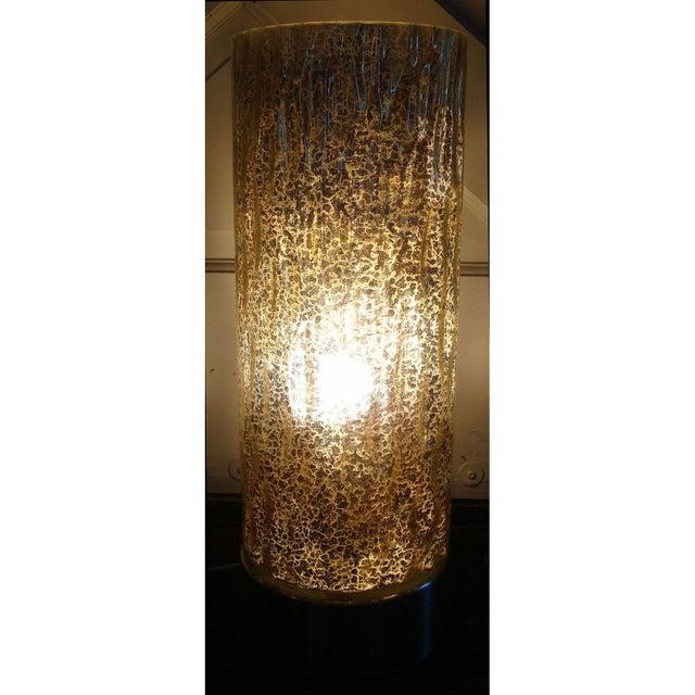 Modern Textured Metallic Glass Table Lamp - Image 2 of 6