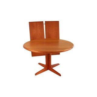 Mid Century Danish Teak Extendable Dining Table For Sale