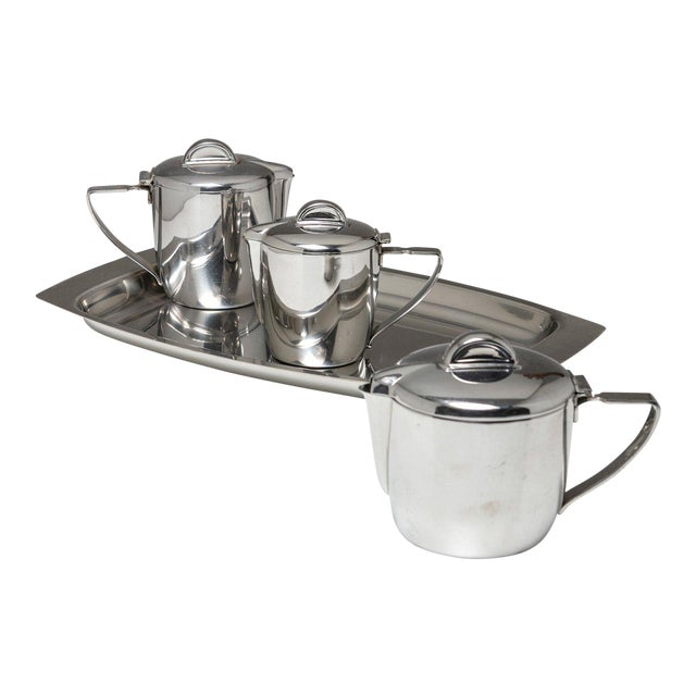 Steel Set by Gio Ponti for Calderoni For Sale