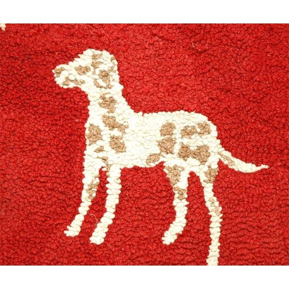 Early 20th Century 1920s Hand Hooked and Mounted Pictoral Dogs Rug For Sale - Image 5 of 5